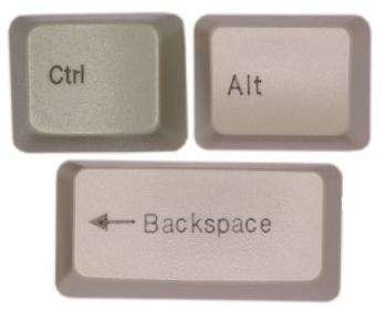 Ctrl-alt-backspace